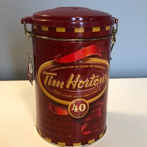 Tim Hortons 40th anniversary limited edition tin